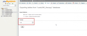 Migrate WordPress database to a new host